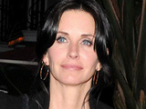 Courteney Cox leaving Il Sole restaurant