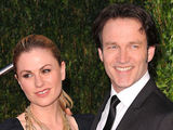True Blood star couple Anna Paquin and Stephen Moyer attending the Vanity Fair pre-Oscar party held at the Sunset Tower Hotel in Hollywood, California