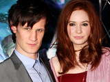 Matt Smith aqnd Karen Gillan attend the Doctor Who premiere