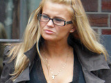 Kerry Katona leaving her home. Cheshire, England.