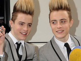 Jedward ahead of the 'X Factor Tour 2010' at the O2 Arena
