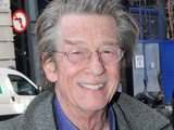John Hurt outside the Radio Two studios