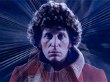 Doctor Who title sequence featuring Tom Baker