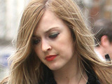 Fearne Cotton with her hair dyed brown with blonde streaks