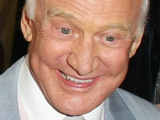 Buzz Aldrin arrives at the launch of actress Niecy Nash's own milkshake