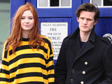 Matt Smith and Karen Gillan promoting the new series of Doctor Who