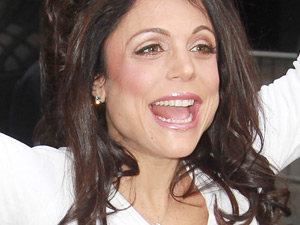Reality star Bethenny Frankel outside of the Four Season Hotel prior to getting married to her fiancé Jason Hoppy