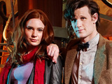 The Eleventh Doctor and Amy Pond in the Tardis