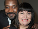 Dawn French and Lenny Henry are snapped together for the first time since their split.