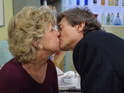 Nigel Havers admits that his wife does not like seeing his kissing scenes on Coronation Street.