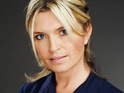 Holby City star Tina Hobley says that she loves being back at work after maternity leave.
