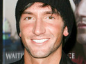 Evan Lysacek reportedly says that he travels with his True Blood DVDs.