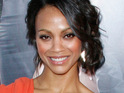 Zoe Saldana admits that being the only female cast member has its benefits.