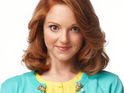 Jayma Mays admits that she is thrilled John Stamos was cast as her love interest on Glee.