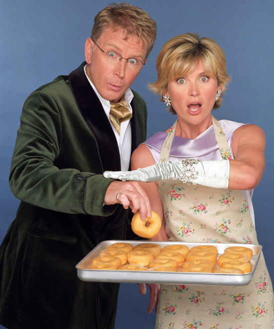 Mark Curry and Anthea Turner