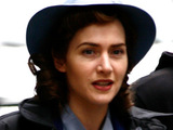 Kate Winslet on the set of &#39;Mildred Pierce&#39;