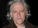 Bob Geldof is presented with the 'Groupies' Choice Award' at this year's SXSW festival in Texas.