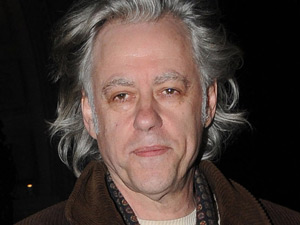 Bob Geldof leaving the Worsley restaurant after having dinner