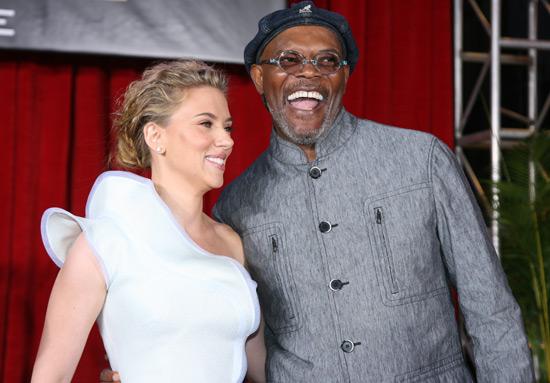 Scarlett Johansson and Samuel L. Jackson