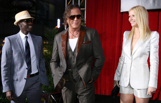 Don Cheadle, Mickey Rourke and Gwyneth Paltrow