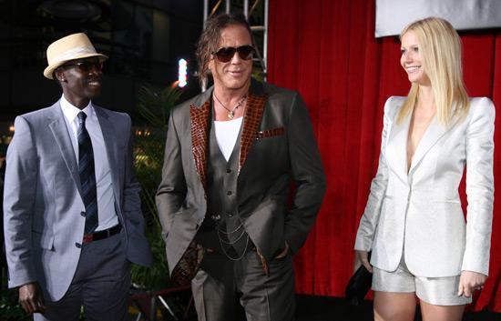 Don Cheadle, Mickey Rourke and Gwyneth Paltrow