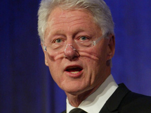 President Bill Clinton honored for the Dayton Accords peace negotiations