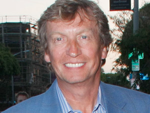Nigel Lythgoe arrives at an art gallery in Beverly Hills