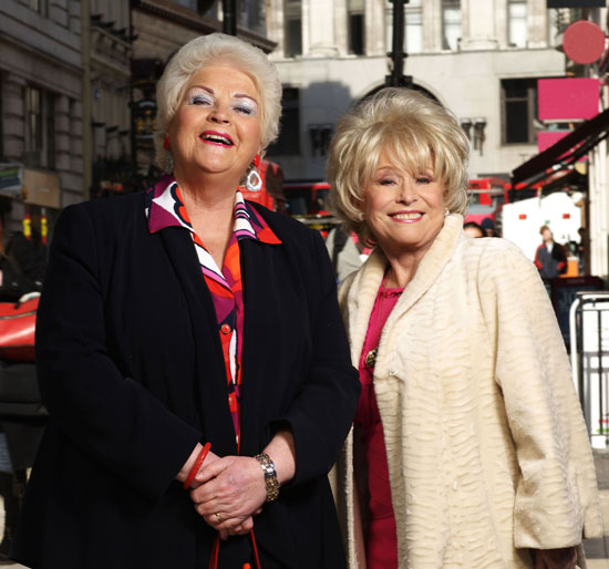 Pam St. Clement Barbara Windsor Pat Evans Peggy Mitchell