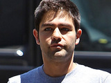 Adrian Grenier arrives at a Beverly Hills gym