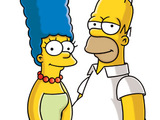 Marge and Homer Simpsons in The Simpsons