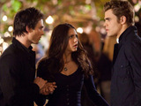 Stefan, Damon and Elena in The Vampire Diaries