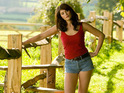 Gemma Arterton gets very cheeky in a pair of Daisy Dukes...
