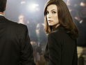 Julianna Margulies dresses in lingerie for the season three poster of The Good Wife.
