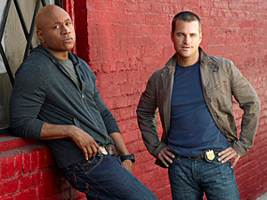 Special Agent Sam Hanna and Special Agent &quot;G&quot; Callen in NCIS: Los Angeles
