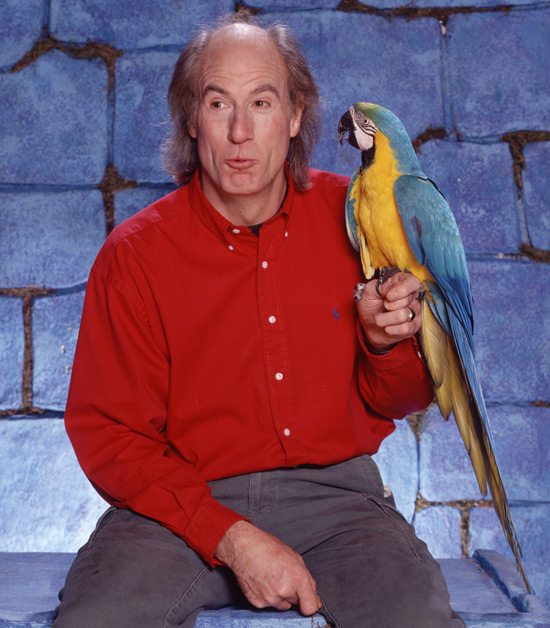 Terry Nutkins and a parrot