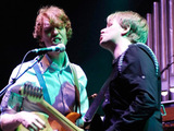 Richard Reed Parry and Tim Kingsbury of Arcade Fire