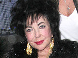 Elizabeth Taylor has dinner at Boa in West Hollywood