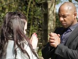Lucas pushes Jade to the ground and tells her to pray