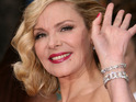Kim Cattrall reveals that she's just starting to date but is content with being single.