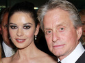 Catherine Zeta-Jones announces that Michael Douglas is responding well to cancer treatment.