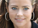 Denise Richards says that she is finding it hard to keep news about Charlie Sheen a secret from their kids.