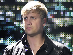 Kian Egan from Westlife performing at the Manchester Evening News Area