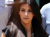 Kim Kardashian leaving an office building where she attended a business meeting, Los Angeles