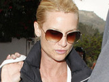 Nicollette Sheridan leaving Taverna Tony restaurant