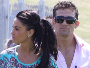 Katie Price and Alex Reid at Epsom Racecourse