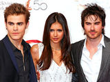 Stars of 'The Vampire Diaries' Paul Wesley, Nina Dobrev and Ian Somerhalder making an appearance at the 50th Monte Carlo TV Festival