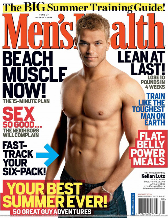Kellan Lutz on the cover of Men's Health