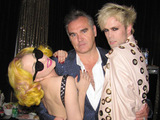 Lady GaGa, Morrissey and Justin from Semi Precious Weapons