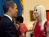 Michaele Salahi from The Real Housewives of Washington DC meets Barack Obama
