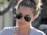 Lauren Conrad leaving the 'Kate Somerville' skin care clinic in West Hollywood